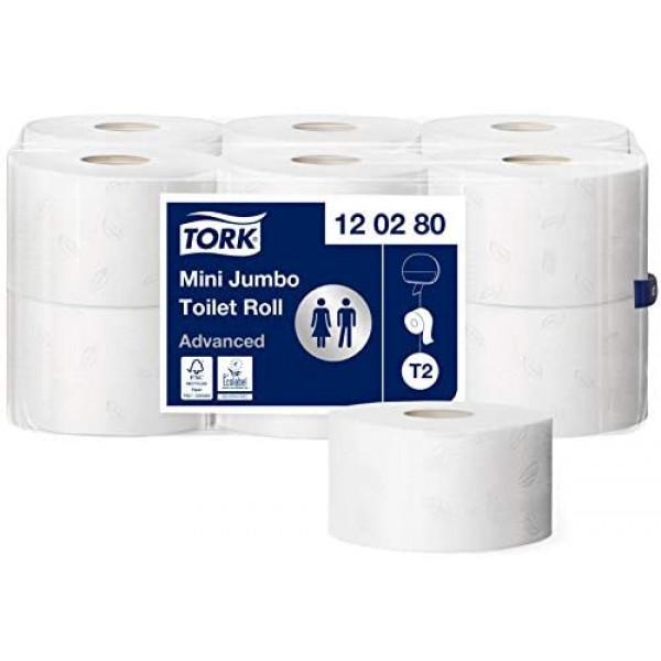 Туалетная бумага в мини рулонах джамбо TORK  ADVANCED 120280