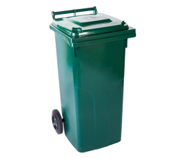 Контейнер для сміття 120л зелений 1406