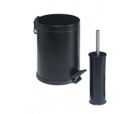 Набор для ванной металл чёрный (корзина 3л + щётка микро) 475S