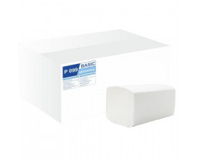Полотенца бумажные целлюлозные белые V-складка Р-099