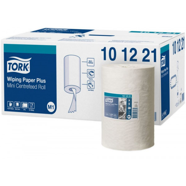 Бумажные полотенца в рулоне мини с центральной вытяжкой Tork Advanced белые 101221