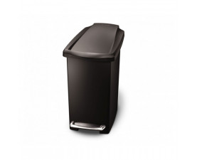Урна для мусора с педалью 10л. чёрная SLIM CW1329