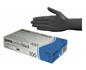 Перчатки нитриловые чёрные без пудры 100 шт. Ampri Pura Comfort Black  118-038-L