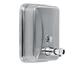 Дозатор жидкого мыла нержавеющая сталь матовая 500 мл. 376P