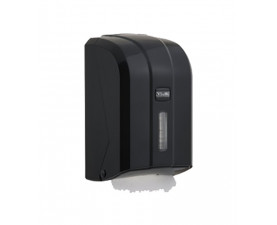 Диспенсер листовой туалетной бумаги чёрный платсик K6ZB