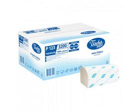 Полотенца бумажные белые V-складка Р-123