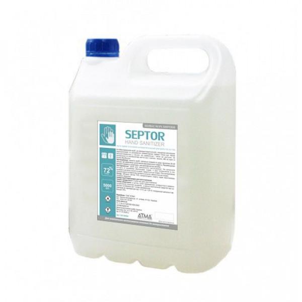 Средство жидкое гигиеническое антибактериальное для кожи рук и тела SEPTOR 5л