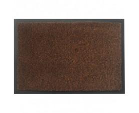 Коврик на резиновой основе с ворсом коричневый MOSS-Ch-60x90-BROWN