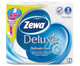 Туалетная бумага Zewa Deluxe Pure белая 4 шт. в упаковке