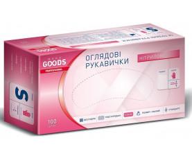 Перчатки нитриловые розовые L 100шт. TM MORE GOODS PROFESSIONAL
