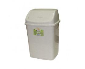 Ведро для мусора с крышкой белый флок 122063