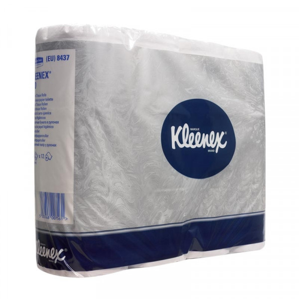 Туалетная бумага в стандартных рулонах KLEENEX мини 8437