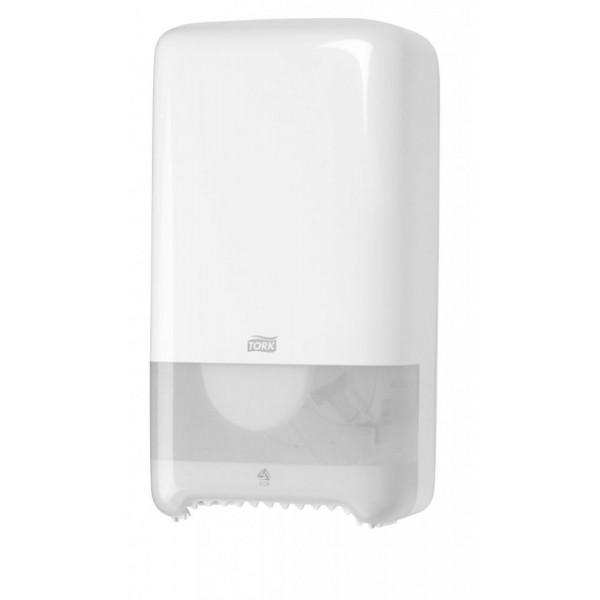 Диспенсер для туалетной бумаги в мини рулонах Tork Auto Shift белый 557500