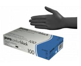 Перчатки нитриловые чёрные без пудры 100 шт. Ampri Pura Comfort Black 118-038-S