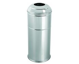 Корзина для мусора большая нержавеющая сталь матовая 45 л 446BM