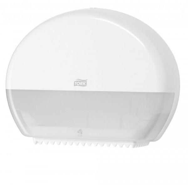 Диспенсер Tork для туалетной бумаги в мини рулонах белый 555000