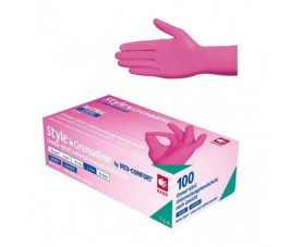 Перчатки нитриловые без пудры 100 шт. Ampri STYLE COLOR GRENADINE 01182-S