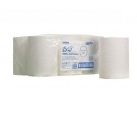 Бумажные полотенца в рулоне 1 слой SCOTT SLIMROLL белые 6657