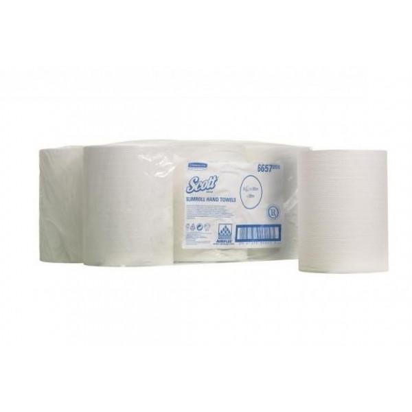 Паперові рушники в рулоні 1 шар SCOTT SLIMROLL білі 6657