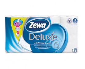 Туалетная бумага Zewa Deluxe Pure белая 8 шт. в упаковке