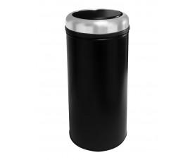 Корзина металлическая с поворотной крышкой PRACTICAL чёрная 27л 805S
