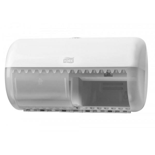 Диспенсер для туалетной бумаги в рулонах Tork Twin белый 557000
