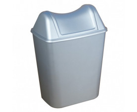Урна для мусора с поворотной крышкой 8л сатин 579_580SAT