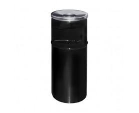 Урна-пепельница чёрный металл 27л. A-500 black