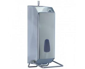 Дозатор жидкого мыла локтевой глянцевый 1,2л 736 INOX