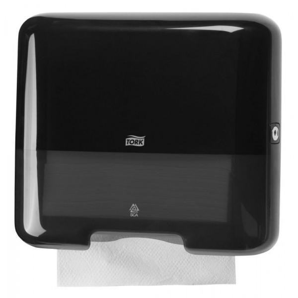 Диспенсер для листовых полотенец Tork Мини, сложения ZZ и C черный 553108