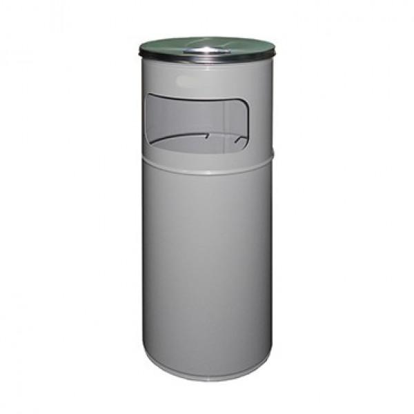 Урна-пепельница серый металл 27л. A-500 grey