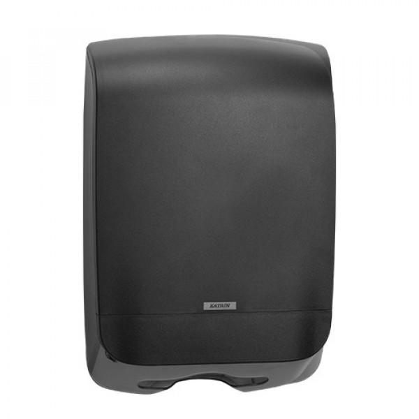 Диспенсер листовых полотенец Katrin Inclusive чёрный 92063