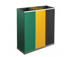 Корзина для сортировки мусора с тремя контейнерами по 25Л JH4014VAG