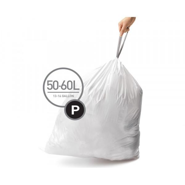 Мешки для мусора плотные с завязками 60л CW0263