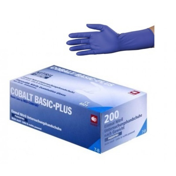 Перчатки нитриловые без пудры 200 шт Ampri COBALT BASIC-PLUS 01215-L