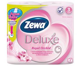 Туалетная бумага Zewa Deluxe Орхидея розовая 4 шт. в упаковке