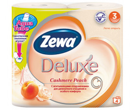 Туалетная бумага Zewa Deluxe Персик 4 шт. в упаковке