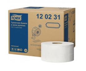 Туалетная бумага в мини рулонах джамбо TORK  ADVANCED 120231
