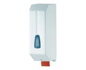 Дозатор жидкого мыла белый металл 1,2 л 542W