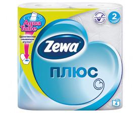 Туалетная бумага Zewa Плюс белая 4 шт. в упаковке
