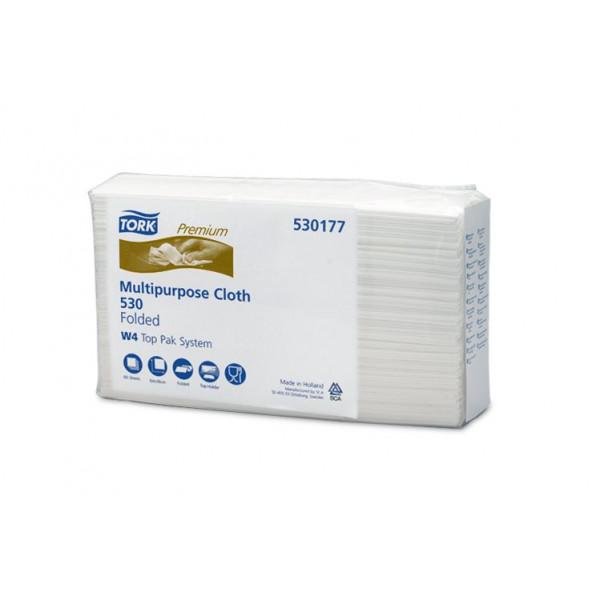 Нетканый протирочный материал листовой Tork Premium 530 универсал 530177