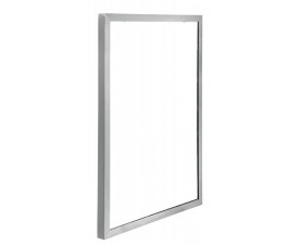 Зеркало в стальной матовой окантовке 70*50 см 516