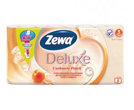 Туалетная бумага Zewa Deluxe Персик 8 шт. в упаковке