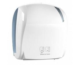 Держатель бумажных полотенец в рулонах сенсорный белый LINEA SKIN A88510