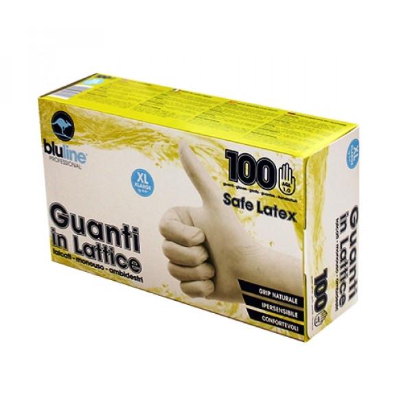 Перчатки латексные 100шт. SAFE LATEX GUL100BLM