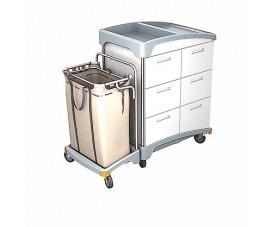 Тележка с выдвижными ящиками и мешком для белья TSH-0007