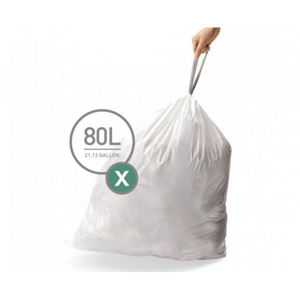 Мешки для мусора плотные с завязками 80л CW0272