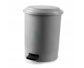 Корзина для сміття з педаллю сірий пластик 6л PK-6 101