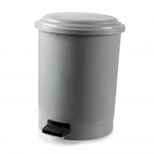 Корзина для мусора с педалью серый пластик 6л PK-6 101