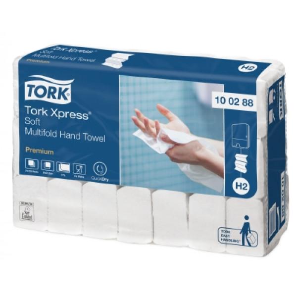Бумажные полотенца сложения Interfold Tork Premium белые 100288